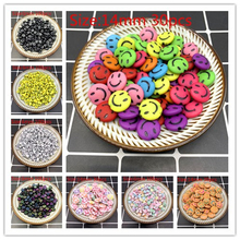 New 6/14mm Smiley face Acrylic Clay Shape Spacer Beads For DIY Handmade Jewelry Craft Accessories