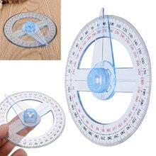 360 градусов указатель транспортир поворотная рукоятка угол искатель 10 см пластиковая круглая линейка прочный измерительный инструмент школьные офисные принадлежности
