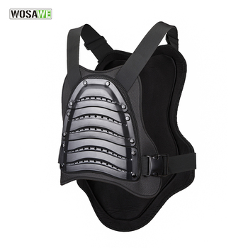 WOSAWE Waterproof Windproof Skiing Motorcycle Body Armor Vest Snowboarding Jacket Chest Back Protector Racing Vest Protective wosawe motorcycle armor jacket motocross body protector ghost racing riding moto protective guard armor chest back protection