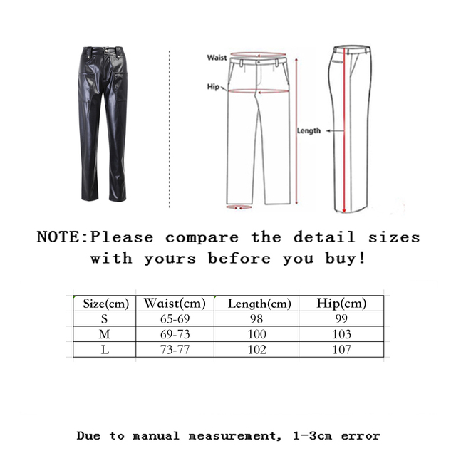 Ladies Leather Trousers 6