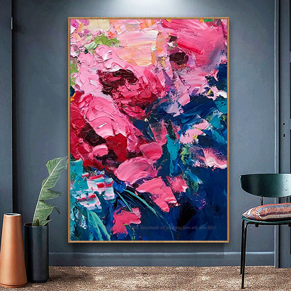 DMPro Professional Painter Team Supply Colorful Plants Cacti Oil Painting Special Flowers Cacti Oil Painting on Canvas 80x120CM No Frame