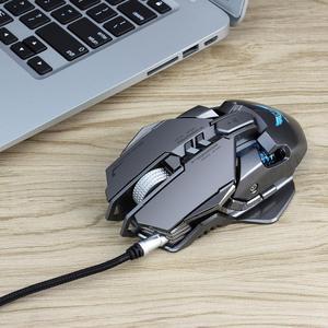 Image 5 - משחקי Wired עכבר 3200DPI מתכוונן משקל הגדרת מאקרו Wired עכבר מקצועי בדרגה גיימר LED עבור מחשב PC PUBG