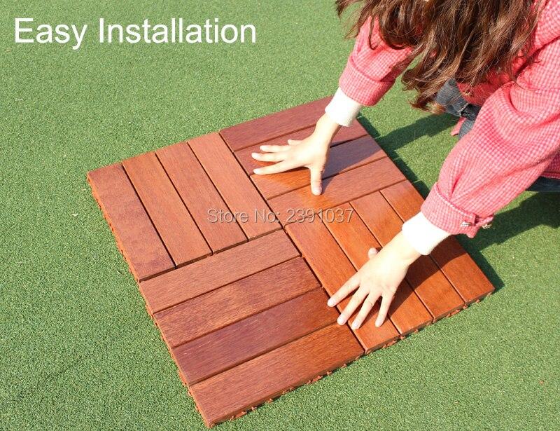 High Grade 1box 11pcs 30x30cm Waterproof Balcony Floor Outdoor