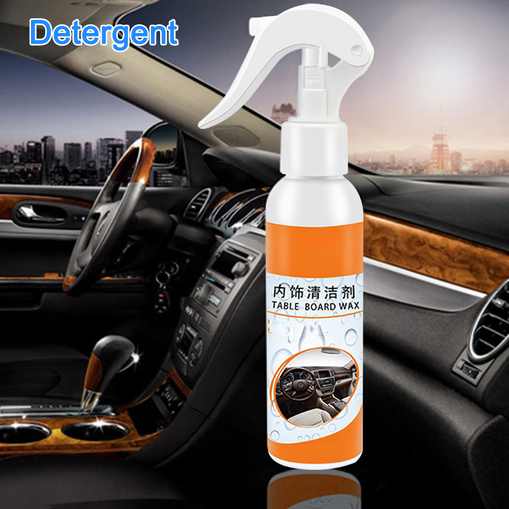 120ML Car Interior Maintenance Tool Spray Wax Multi-functional Cleaning Spray For Dashboard Leather Plastic Car And Home Use