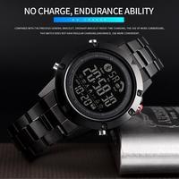SKMEI Smart Bluetooth moda creativa sport orologio da polso da uomo cinturino in acciaio Calorie pedometro orologi digitali con fotocamera remota