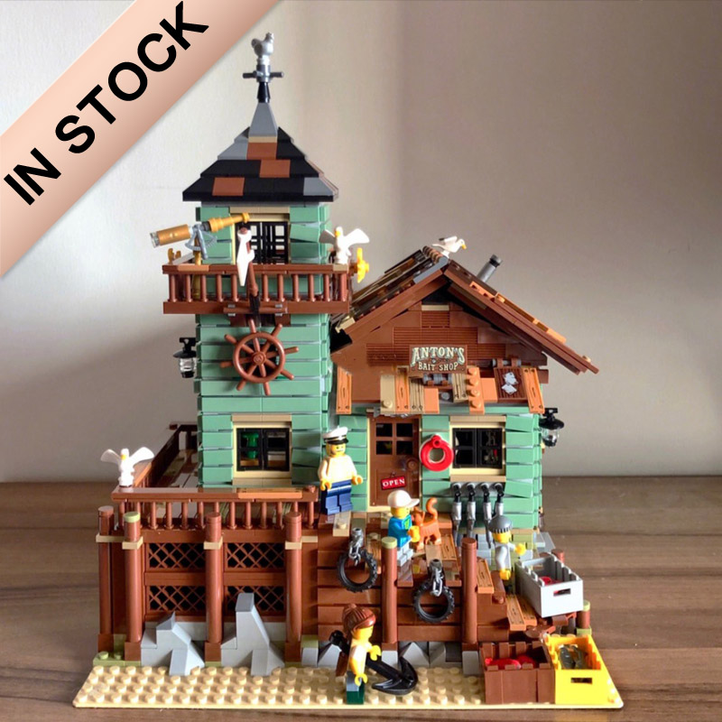 In Stock 16050 The Old Fishing Store 21310 2109pcs City Creator Street View MOC Model Building Blocks Lepinblocks SY1147 6004