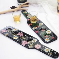 DIY Crystal Epoxy Resin Mold Handle Tray Cup Coaster Silicone Mold Home Decoration Resin Molds Casting Mould