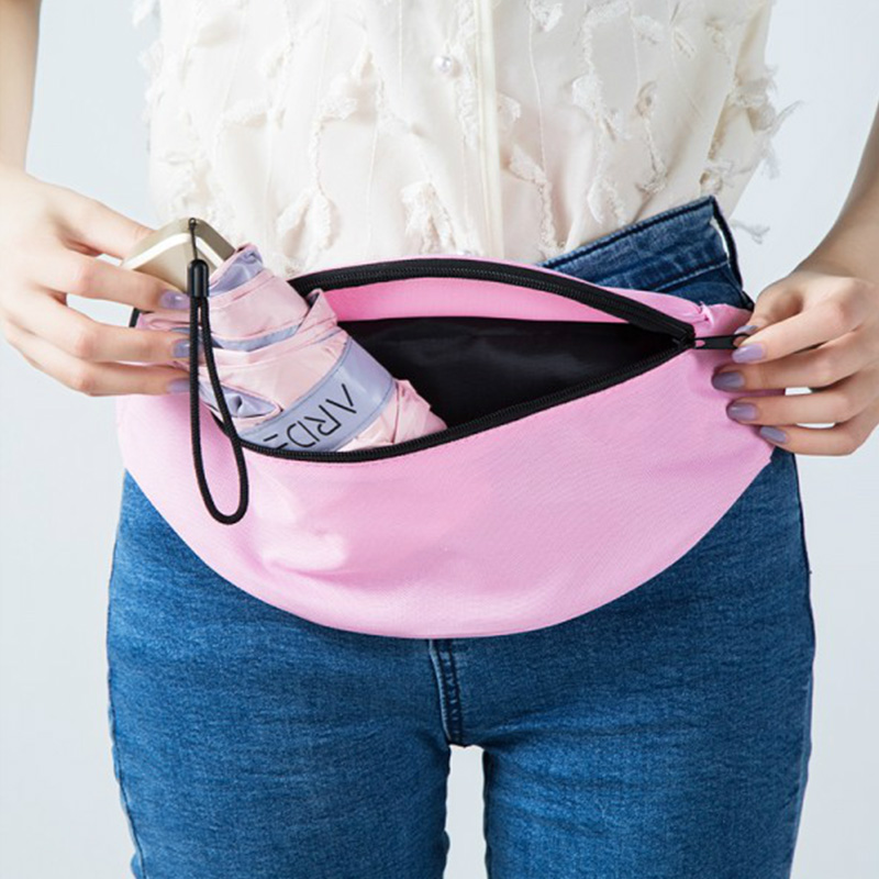 Women Waist Bag Pink Fanny Pack Shoulder Bag Hip Hop High Capacity Banana Bag Unisex Kidney Waist Pouch Sports Crossbody Bags