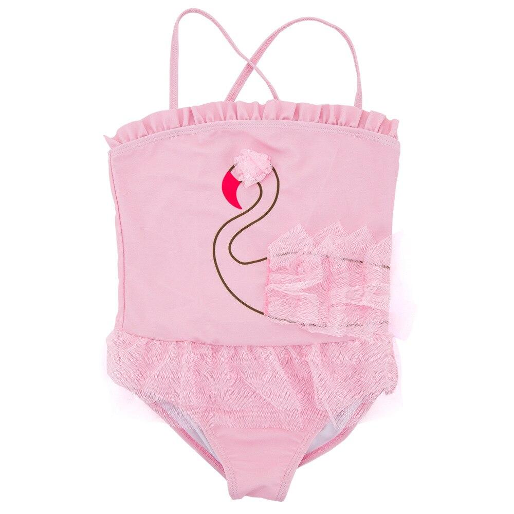 Pink Swan Tutu Camisole Cute Princess Dress One-piece KID'S Swimwear Infants Children GIRL'S Swimwear