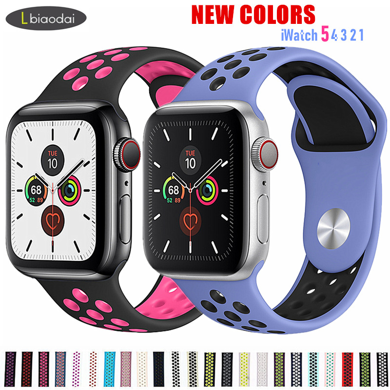 Silicone Strap For Apple Watch 5/4 Band 44mm 40mm IWatch Band 42mm 38 Mm Sports Belt Watchband Bracelet Apple Watch 5 4 3 2 1 44