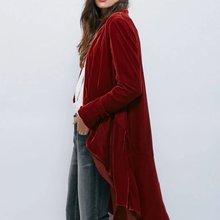 Elegant Velvet Chiffon Ruffles Trench Coat Women Fashion Open Stitch Dovetail Ca