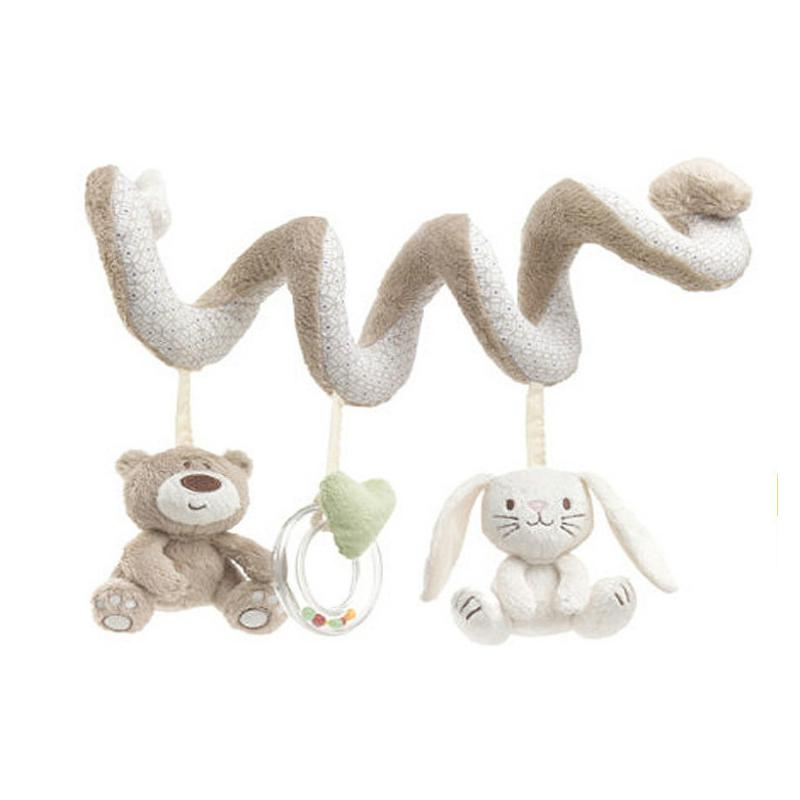 Baby Toys Mobile Educational Musical Toy Newborn Plush Rattles Playing On The Crib Hanging Bell Toys For Children