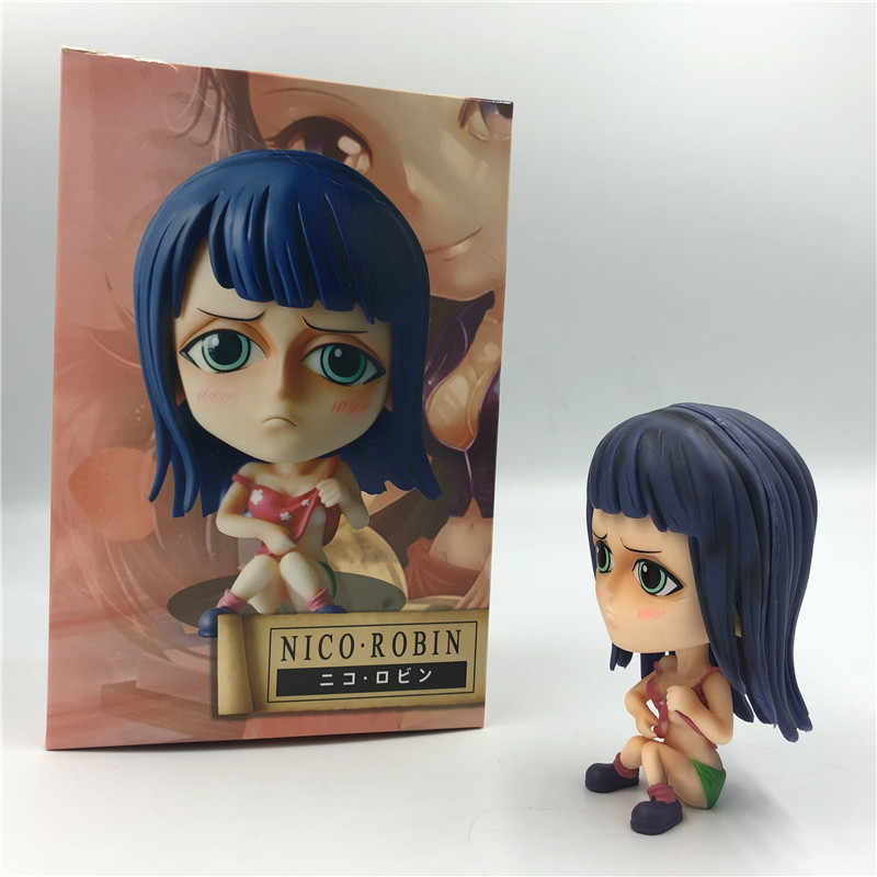 Anime One Piece Nico Robin Menina Bonito Sexy Sentando Ver. PVC Figuras de Ação OP Luffy Robin Infância Adorável Colecionáveis Modelo