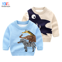 2019 Autumn Boys Sweaters Girls turtleneck for Boy Sweaters Cartoon Kids Sweaters For Winter Knitted Bottoming Clothes DC195 недорого
