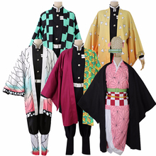 Fantasia analógica cosplay de kamado tanjirou, nezuko agatsuma zenitsu tomioka