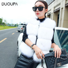 2019 Autumn and Winter New Fashion Womens Imitation Fox Fur Vest Sleeveless Short Jacket Explosion
