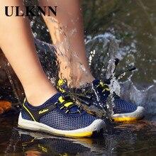 ULKNN Children Single Mesh Shoes Breathable Outdoor Kids Hiking Shoes