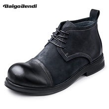 Short Boots Shoes Business Hight-End Autumn Top Man Ankle Derby Men's Simple