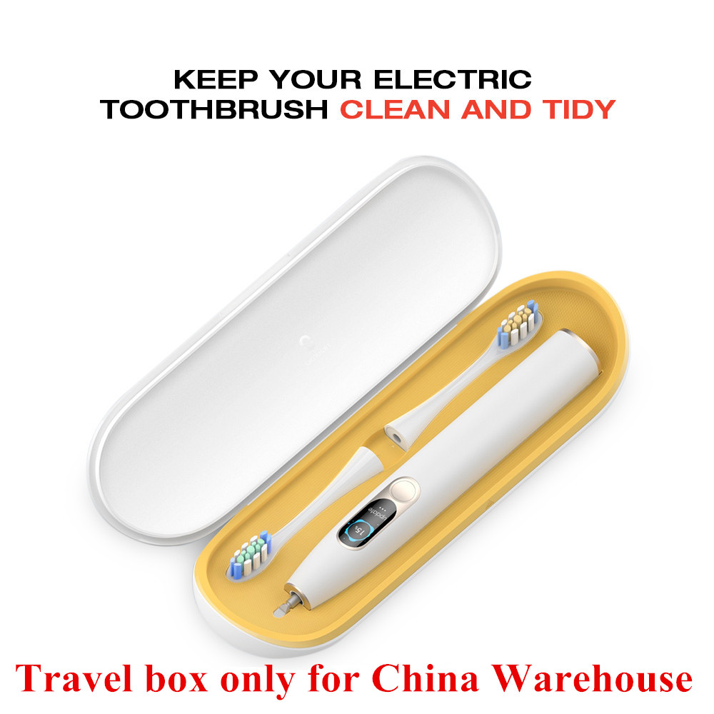 Звуковая электрическая зубная щетка на батарейках с 4 кратными щеточными головками, товары для гигиены полости рта, перезаряжаемая зубная щ... - 2
