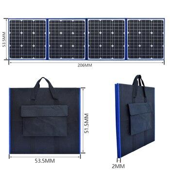 flexible solar panel foldable 200w 18v 12v charger home kit portable outdoor 5v usb for phone RV car battery camping travel 3