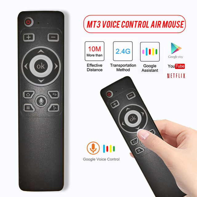 Smart Voice Control GyroAir Mouse  IR Learning 2.4G Wireless Fly Remote Control for TD90s X96 Mini H96 MAX TV Box