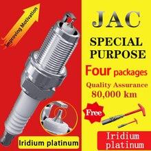 4 шт/подходит для Jianghuai JAC Ruifeng уточнить A60 S2 S3 S4 S5 S7 M3 M4 M5 Shuai верескового цвета T6 T8 иридия Платиновые Свечи Зажигания
