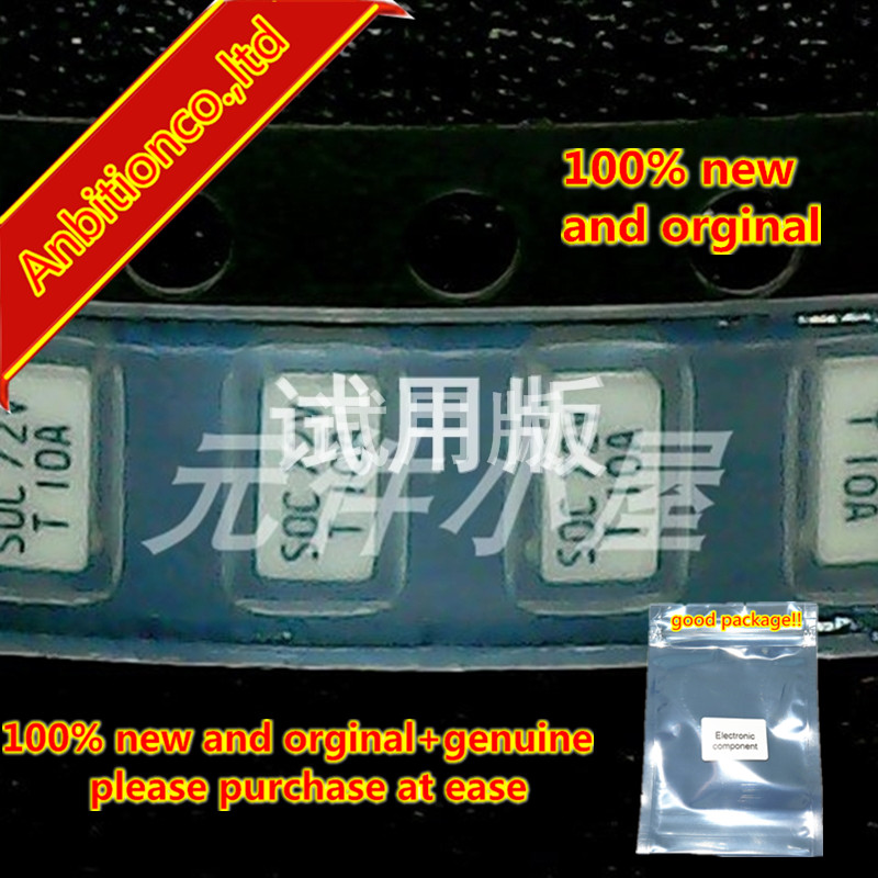 10pcs 100% New And Orginal 11CT10AR08B41206SOC 72V T 10A SOC  Factory Chip, Slow Fuse In Stock
