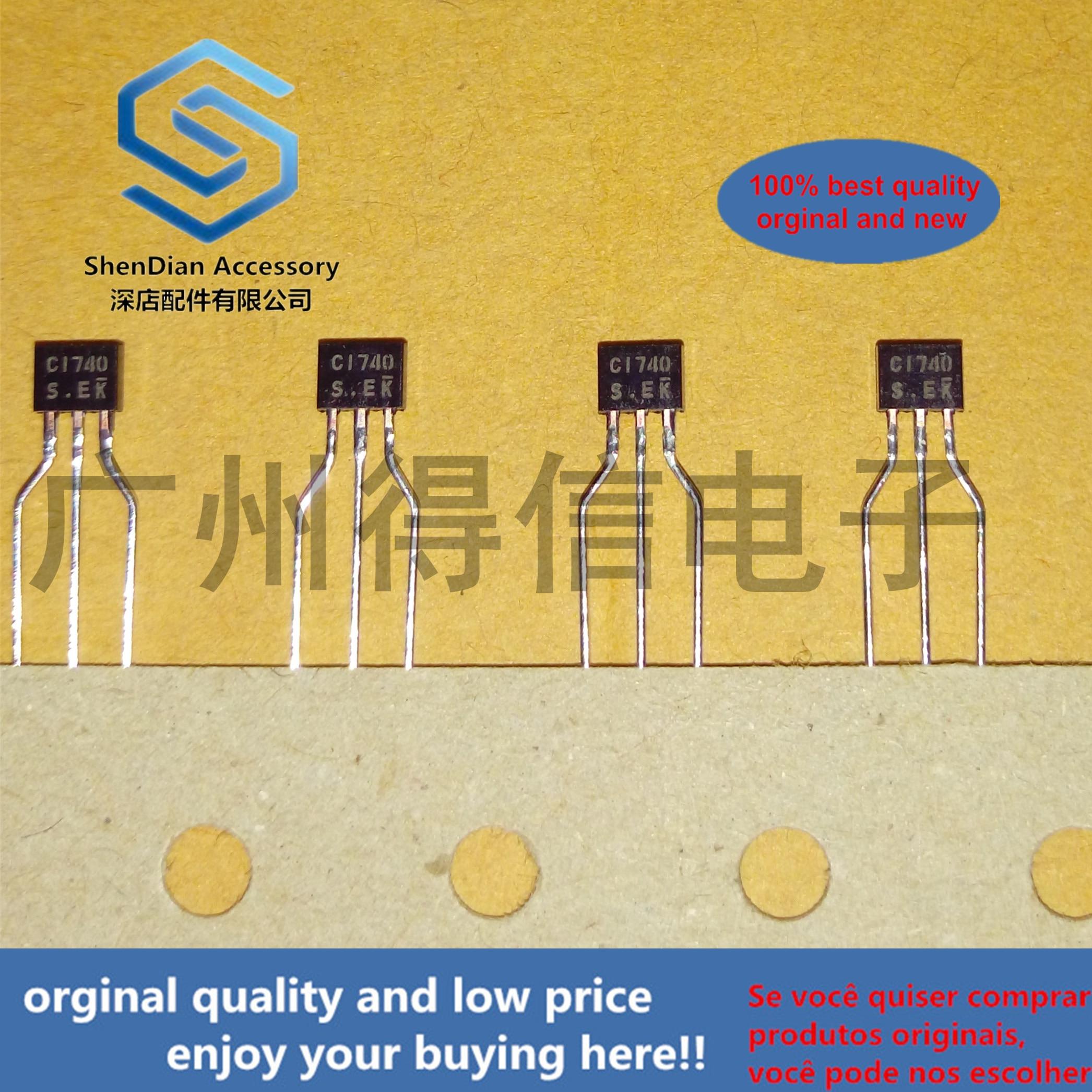 30pcs 100% Orginal New 2SC1740S C1740  TO-92S  TO-92S Plastic-Encapsulate Transistors Real Photo