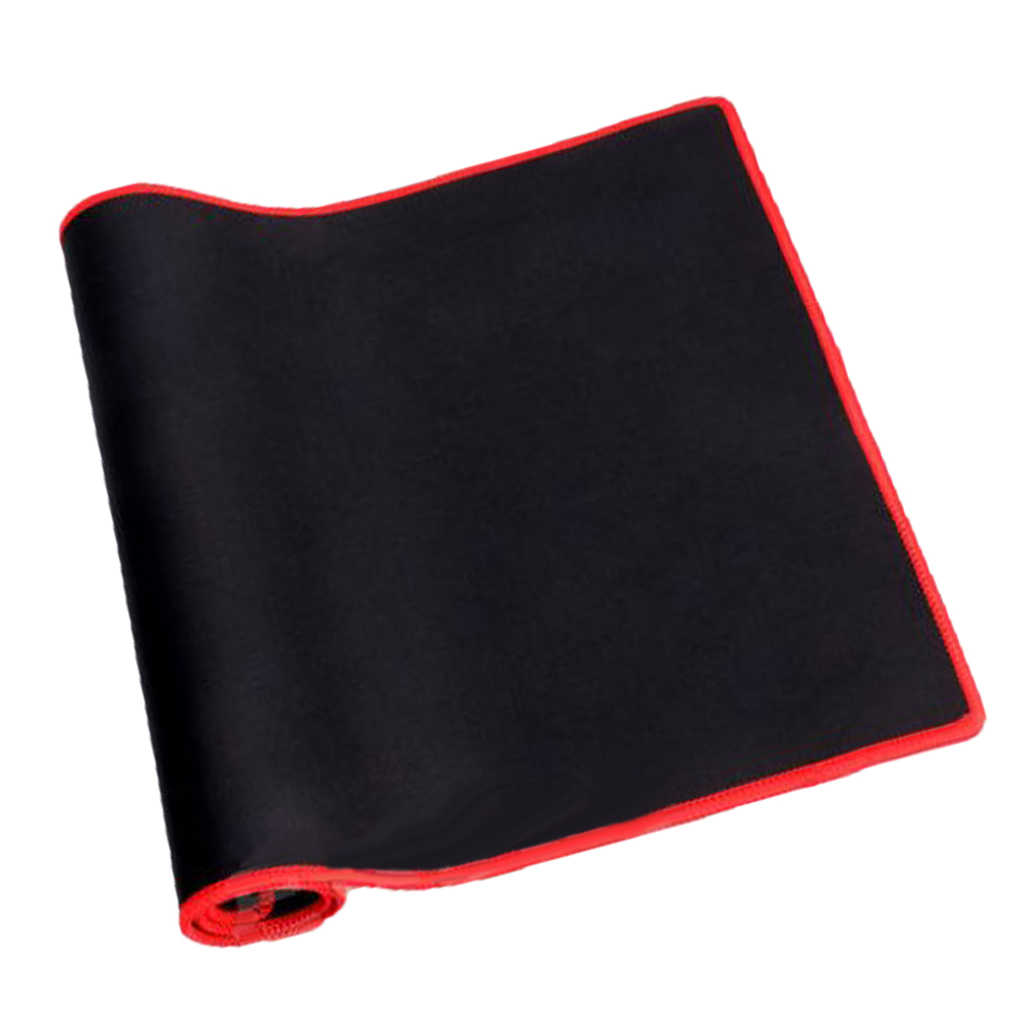 大サイズ Pc のラップトップコンピュータのマウス/キーボードパッドマット 700*300*2 ミリメートル赤エッジ黒