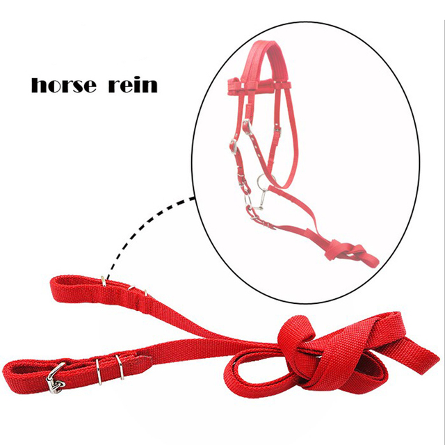 Horse Bridle Rein Headstall Thickened Halter Equestrian Accessories With Removable Snaffle  6