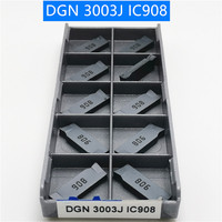 1000PCS DGN 3003J IC908 Pastilha de Metal Duro Ferramenta de Torneamento Torneamento Fresagem CNC Cortador Ferramenta de Corte De Corte De Ranhura DGN3003J IC908|Ferr. torneam.| |  -