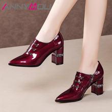 Meotina/Женская обувь на высоком каблуке; из натуральной кожи