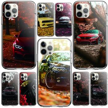 Red And Blue Bmw Car Phone Case Clear Cover For Iphone 5 6 7 8 11 12 Plus XR X XS SE2020 11/12PRO Max Transparent Cases image