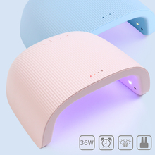 36W UV LED Nail Lamp Pink Blue Nail Light Gel Polish Varnish Cured Professional Nail Dryer Dual Source Timing Manicure SA1504