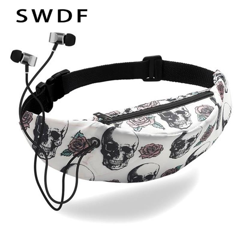 SWDF Waterproof Fanny Pack Women Colorful Waist Bag Fashion Purses High Quality Female Chest Phone Pouch Banana Belt Bum Bag Sac