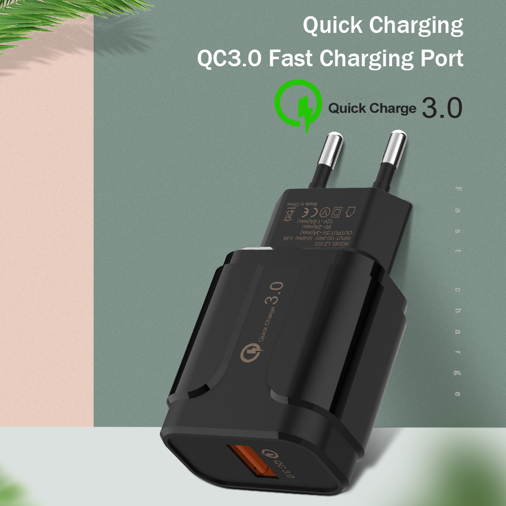 Universal Travel Wall <font><b>Charger</b></font> USB Adapter <font><b>EU</b></font> Plug <font><b>Charger</b></font> QC3.0 Turbo Fast <font><b>Charger</b></font> 5V/3A <font><b>9V</b></font>/2A For Huawei Xiaomi iPhone Samsung image