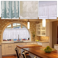 1 Panel SunShade Shower Curtains Elegant Sunscreen Restaurant Lace Durable Window Screen Wedding Decoration Home Decor