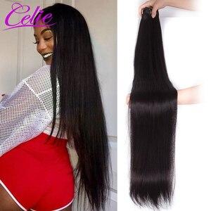 Image 3 - סלי ישר שיער חבילות רמי שיער טבעי הארכת 28 30 32 34 36 38 40 אינץ חבילות ישר ברזילאי שיער Weave חבילות