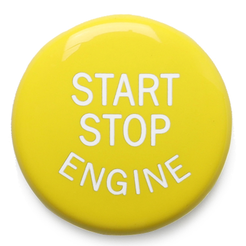 Yellow <font><b>Engine</b></font> Start Stop Button <font><b>Cover</b></font> for <font><b>BMW</b></font> E-Chassis E46 E60 <font><b>E90</b></font> E92 E87 E82 E64 E70 E71 E53 E89 E39 image