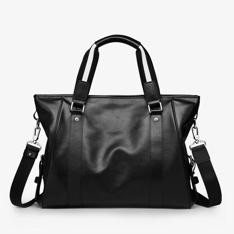New Fashion Genuine Leather Bag Business Men Messenger Bags Luxury Brand Men Briefcases New Designer Male Laptop Handbag