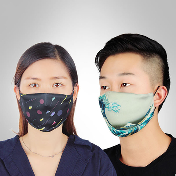 1PCS High Quality Foam Prevent Anti Dust Saliva Formaldehyde Bad Smell Bacteria Proof Face Mouth Mask With 3 Replaceable Filter