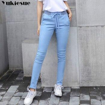 streetwear Harem pants capri trousers women linen leggings summer 2019 lady casual plus size stretch long slim pantalon femme