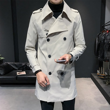Mens Double Breasted Trench Coat Mens Off White Trench Coats