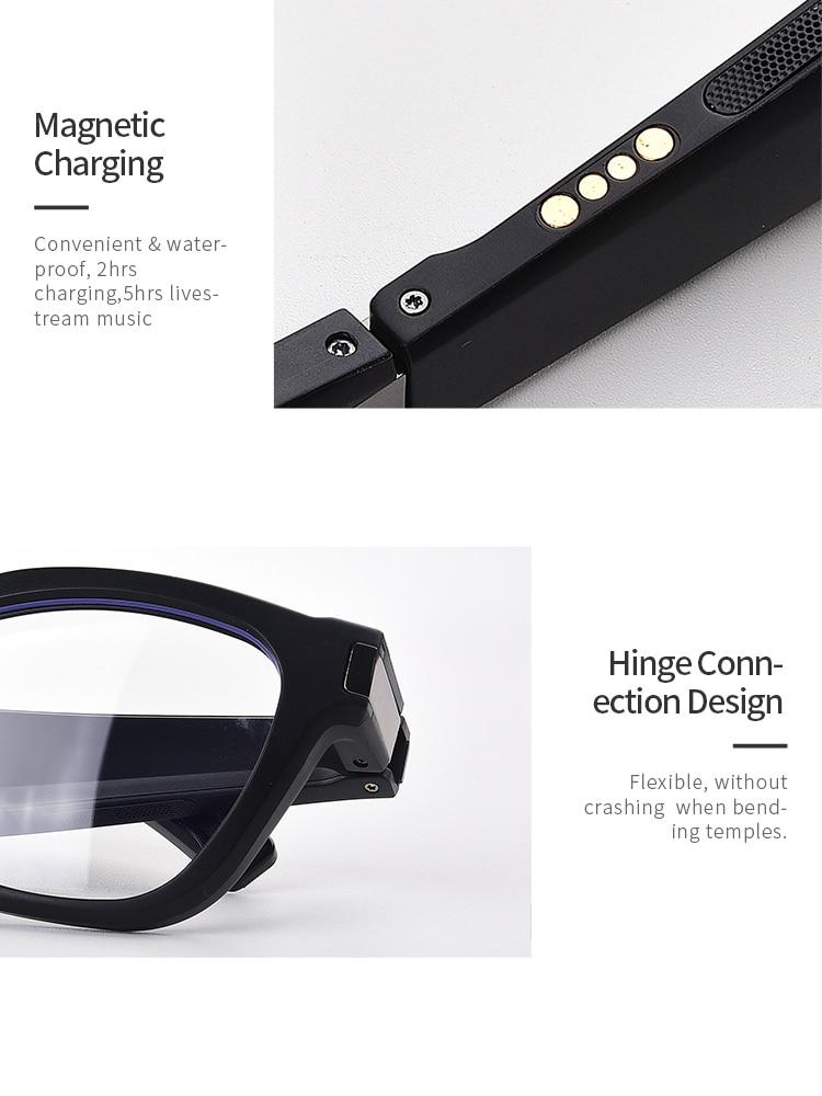 Sem fio bluetooth óculos inteligentes claro anti-azul luz proteção para os olhos