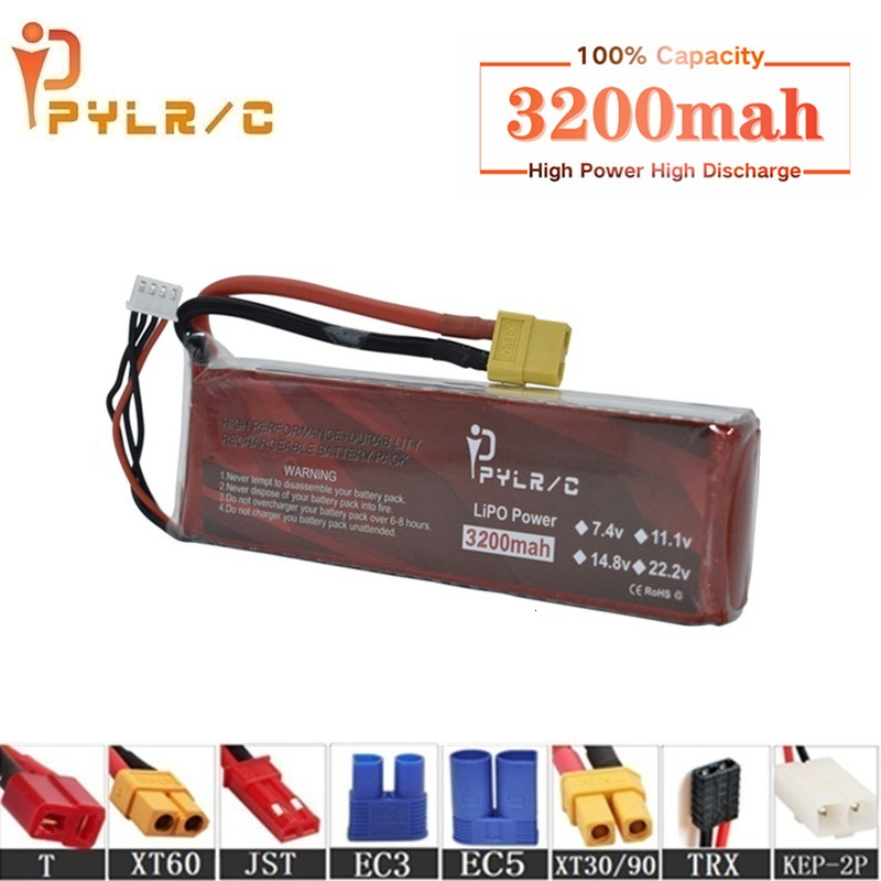 High Rate 14.8v 3200mAh Lipo Battery For RC Helicopter Parts 4s Lithium battery 14.8v 50C RC Cars Airplanes Drone Battery T/XT60