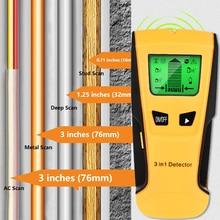 Vastar 3 In 1 Metall Detektor Finden Metall Holz Studs AC Spannung Live Draht Erkennen Wand Scanner Elektrische Box Finder wand Detektor
