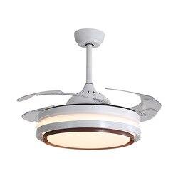 Wentylator sufitowy LED Light Living oświetlenie LED do pokoju restauracja nowoczesny minimalistyczny sufitowy pilot zdalnego sterowania do wentylatora domowego wentylator sufitowy ze światłami