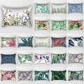 뜨거운 판매 아름다움 열 대 꽃 식물 침대 베개 케이스 여행 침실 베개 커버 사각형 작은 베개 경우 70*50 cm