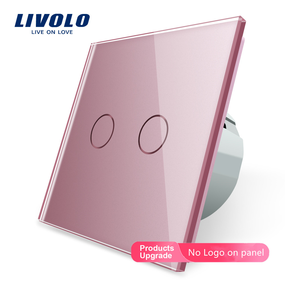 Image 5 - Livolo Wall Light Touch Switch With Crystal Glass Panel,colorful switch,led indicator light,universal wall switchesSwitches   -