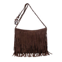 Retro Faux Suede Fringe Women Messenger Bags Tote New Handbag Tassel Shoulder Handbags Crossbody Bag Bolsa Feminina ##6(China)